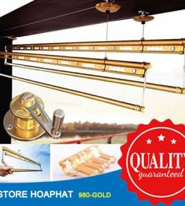 Giàn phơi Hòa Phát HP 980-Gold thanh phơi chăn, ga