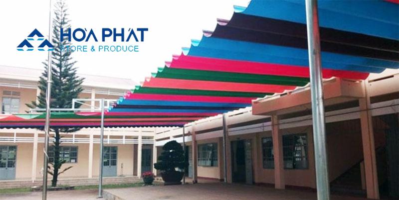 Bạt che nắng mưa trường học Hòa Phát1