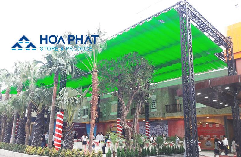 Bạt che nắng mưa cho quán cafe Hòa Phát